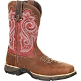 Durango Women's Lady Rebel 10'' WP Composite Square Toe Briar Brown/Rusty Red 7.5 B US