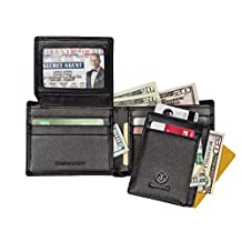 Travami Wallets for Men | RFID Blocking | ID Holder | Quality Leather Wallets