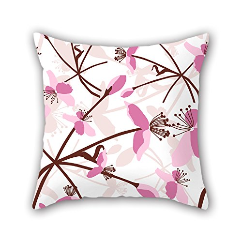 PILLO Flower Cushion Cases ,best For Boy Friend,kids Boys,saloon,club,boys,monther 18 X 18 Inches / 45 By 45 Cm(each Side)