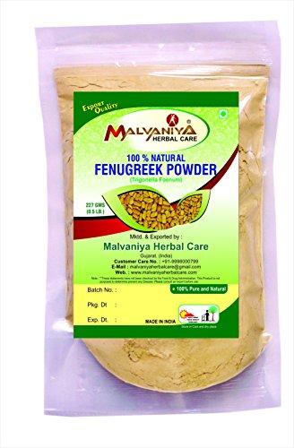 100% Natural Fenugreek Seeds (TRIGONELLA FOENUM GREACUM) Powder for LONG HAIRS NATURALLY by Malvaniya Herbal Care (1/2 lb/8 ounces/227 g) by Malvaniya Herbal Care