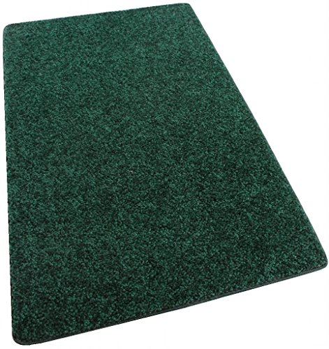 - Koeckritz 3'X5' Area Rug Carpet. EMERALD FORREST GREEN 30 oz. ½ Thick. 100% Polyester fiber, Medium Density, Soft and Durable. MULTIPLE SIZES, SHAPES and Brilliant Colors.