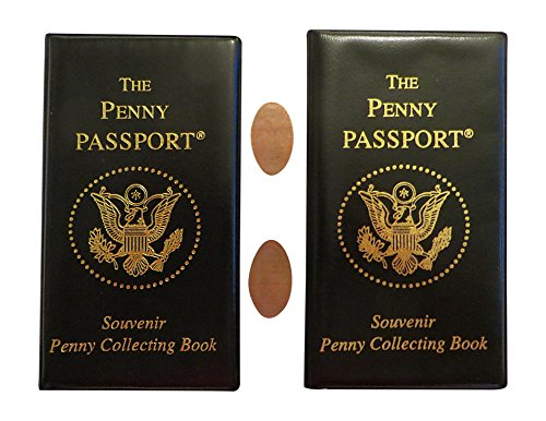 Two-Pack of Penny Passport Souvenir Collecting Book with Free Pressed Pennies by CTM Group Inc