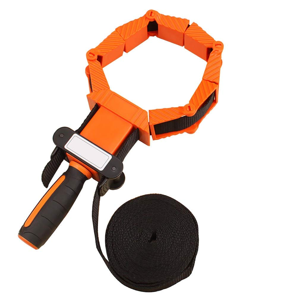 Ochoos Two-Color Non-Slip Handle Nylon Material Straps Clip Multi Function Type Binding Multilateral Angle Woodworking Tool Clamp