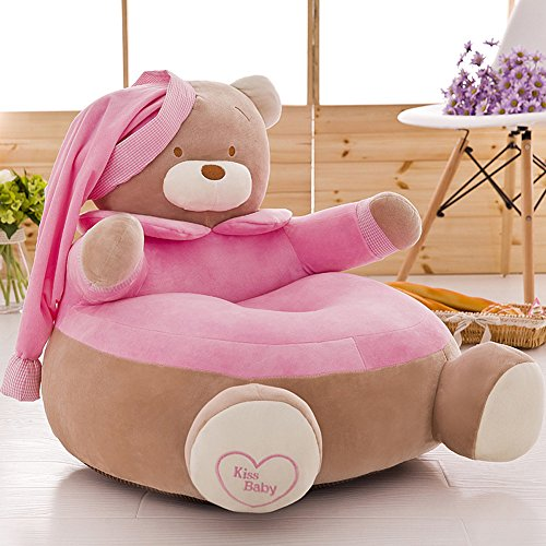 MeMoreCool Upgrade Cartoon Bear Children Plush Sofa,Soft Kids Chair,Removable Cover Chair for Christmas/Children's day Gift,Pink (Cheap Outside Chairs)