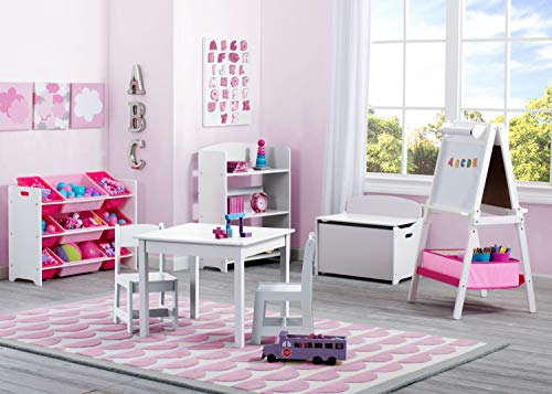 Delta Children MySize Kids Wood Table and Chair Set (2 Chairs Included), Bianca White by Delta Children (Image #3)