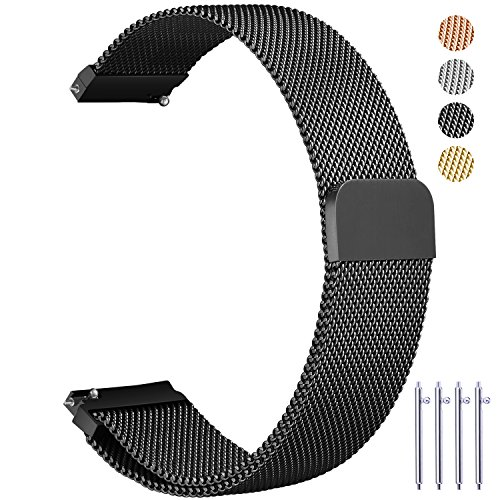 Vetoo 22mm Milanese Watch Bands, Quick Release Magnetic Clos