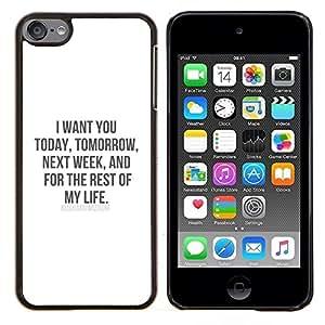 Stuss Case / Funda Carcasa protectora - Vous aimez la vie My Sweetheart miel - Apple iPod Touch 6 6th Touch6