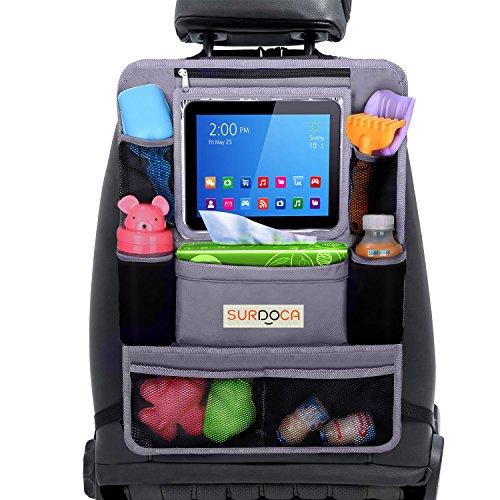 Amazon.es: organizador asiento coche, organizador coche, SURDOCA 4 de la generación 【10 de porcelana de gran capacidad】organizador coche niños, ...