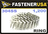 1'' Ring 304 Stainless Coil Roofing Nails 1.2M RoofPak