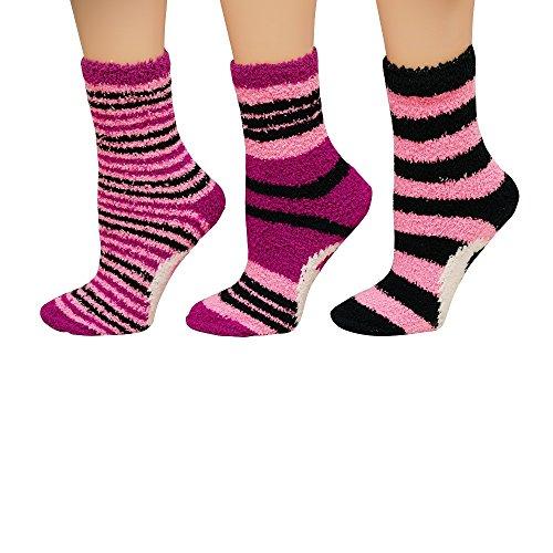 Womens Fuzzy Socks - 4