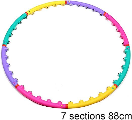 Magnetic Hoola Hoop//Fitness Ring Removable Hoola Hoop with Double Rows of Magnetic Massage Beads Can Be Funny Fat Burning