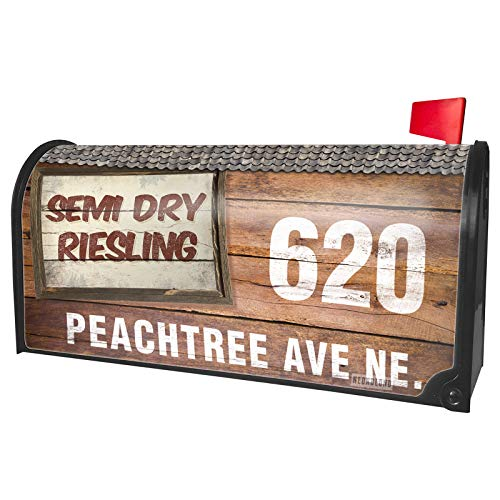 Dry Riesling Semi Wine - NEONBLOND Custom Mailbox Cover Semi Dry Riesling Wine, Vintage Style