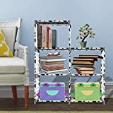Cheap Asatr 3-tier Storage Cube Closet Organizer Shelf 5-cube Cabinet Bookcase, Black+White