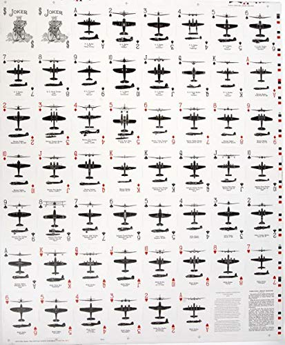 Aircraft Spotter Cards, Uncut Sheet, WWII Reissue, Bicycle Brand BLUE ()