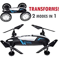 CyberTech 2 in 1 (Car and Fly) RC Racing Car RC Quadcopter Drone RTF 2.4GHz 6-Gyro System,Support Headless flying mode,2 Li-Polymer Batteries included! WiFi camera and mobile are sold separately