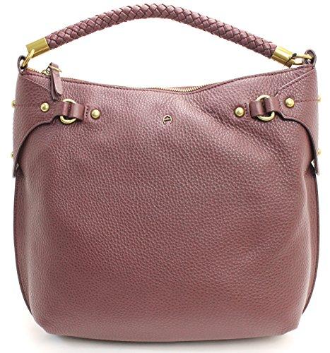Etienne Aigner Shoulder Bag (Cordovan) (Etienne Aigner Leather Purse)