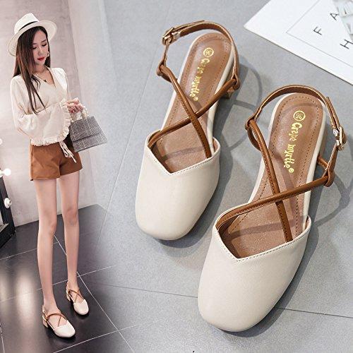 Sommerrough albaricoque y Chaussures de avec Baotous sandales femmes pour color HZxqp