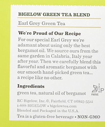 Bigelow Earl Grey Green Tea, 20 Bags (Pack of 6), Premium Green Tea with Oil of Bergamot, Antioxidant-Rich All-Natural Gluten-Free Medium-Caffeine Tea in Foil-Wrapped Bags by Bigelow Tea (Image #5)