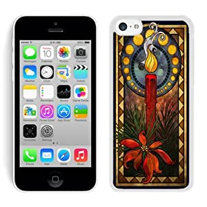 Personalize offerings Iphone 5C TPU Case Christmas Candle White iPhone 5C Case 1