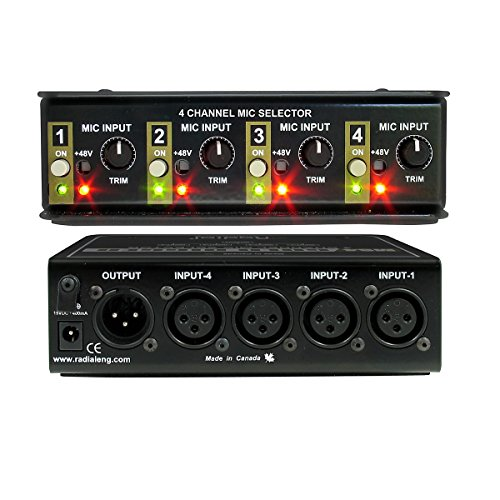 Radial Gold Digger 4-channel Mic Selector by Radial