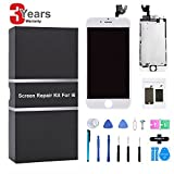 LCD Display for iPhone 6 Screen Replacement Digitizer Frame Assembly Full Set Repair Tools Kit (White)