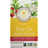 Traditional Medicinals Organic Heart Tea Hawthorn Hibiscus, 20 tea bags
