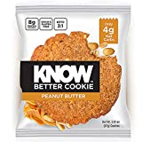 KNOW Foods – KNOW Better Cookie, Peanut Butter, Keto Snack, Low Carb Snack, Protein Cookie, Gluten Free, 2.01oz Cookie, 8 Count For Sale