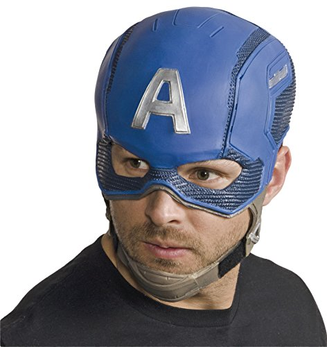 Rubie's Costume Co Men's Avengers 2 Age Of Ultron Adult Captain America Full Latex Mask, Multi, One Size