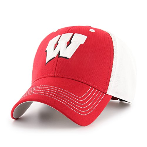 OTS NCAA Wisconsin Badgers Sling All-Star MVP Adjustable Hat, Red, One (Wisconsin Badgers Soft Football)