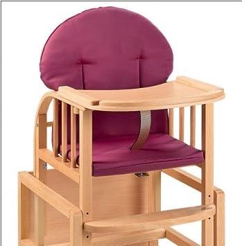 Sitzverkleinerer rot 2-teilig f/ür Treppenhochst/ühle wasserabweisend /• Baby Hochstuhl Stuhl Sitz Kissen Auflage Kinder Rot 2 Teile