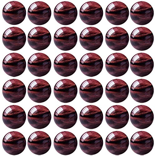 (Natural Stone Beads 100pcs 8mm Red Tiger Eye Round Genuine Real Stone Beading Loose Gemstone Hole Size 1mm DIY Charm Smooth Beads for Bracelet Necklace Earrings Jewelry Making (Red Tiger Eye))