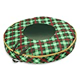 Honey-Can-Do SFT-07751 Plaid 36-inch Wreath Storage