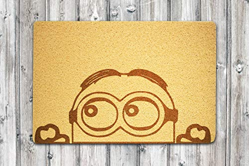 ART Therapy Minions Characters 24x16 inch Eco-Friendly Outdoor Welcome Mat Home Interior Doormat Design Decor Birthday Weding New House Gift Design