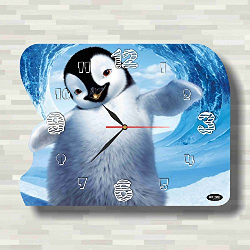 Happy Feet 15'' x 11'' Handmade unique Wall Clock - Get unique décor for home or office – Best gift ideas for kids, friends, parents