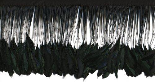 Zucker Feather (TM) - Stripped Iridescent Coque Fringe - Black/Iridescent