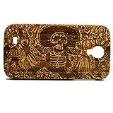 img - for Day of the Dead Galaxy S4 Case. Bamboo Wood Samsung Phone Cover. Mexican Calavera Oaxaque a Catrina. Dia De Los Muertos. Sugar Skull Mexico book / textbook / text book