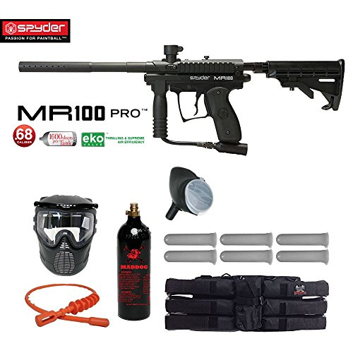 Spyder MR100 Pro Titanium Paintball Gun Package - Black (Paintball Gun Kit Player)