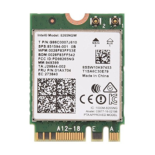 Bewinner Mini WiFi Wireless NGFF/ M2 Card - Network Card for Laptops with NGFF/ M2 Slot and PC with M.2 Mainboard - Bluetooth 4.2 + 2.4G/ 5G Dual-Band