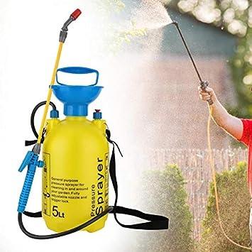 MENGQIZHUANGDAI Fácil y eficiente 5L Pulverizador a presión portátil Flor de la Planta de Agua disperso Pot Frasco con Boquilla de riego de plástico Caldera