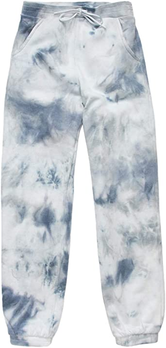 Romwe Girls Tie Dye Joggers Sweatpant Sport Pants with Pocket