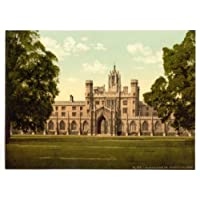 Cambridge St. Johns College English Photochrome EPC145 Canvas A1 Size