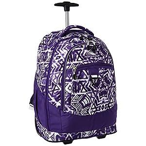 High Sierra Chaser Wheeled Laptop Backpack, Shibori/Deep Purple/White