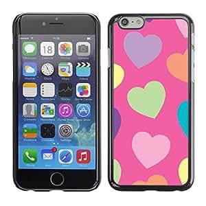 Corazón Verde Modelo anaranjado púrpura - Metal de aluminio y de plástico duro Caja del teléfono - Negro - Apple (5.5 inches!!!) iPhone 6+ Plus / 6S+ Plus