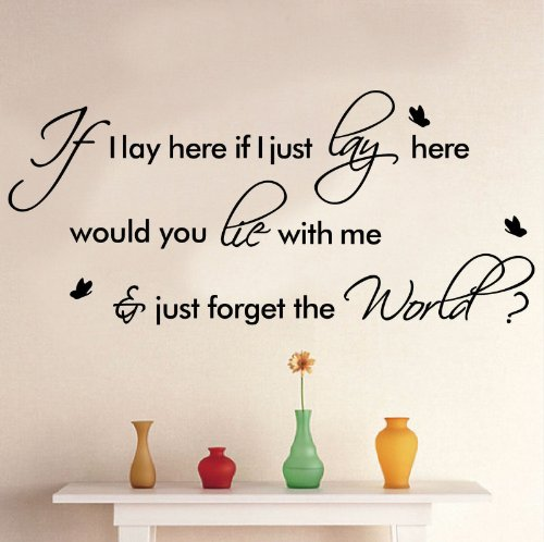 if i lay here wall decal - 7