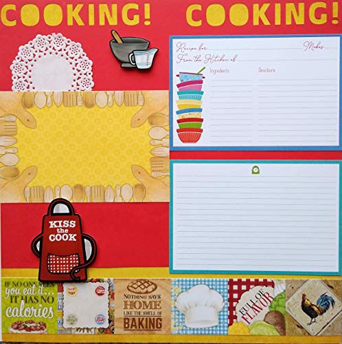 - Kiss the Cook Cooking Scrapbook Page Premade