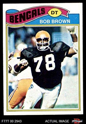 1977 Topps # 491 Bob Brown Cincinnati Bengals (Football Card) Dean's Cards 7 - NM Bengals