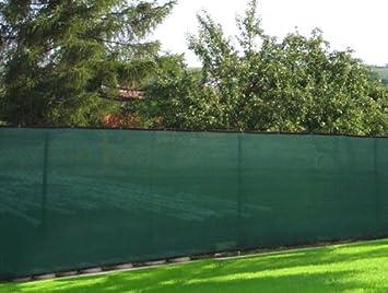 Privacy Fence Windscreen Mesh Screen Fabric 8u0027 X 50u0027 Cover Garden Blackish  Green