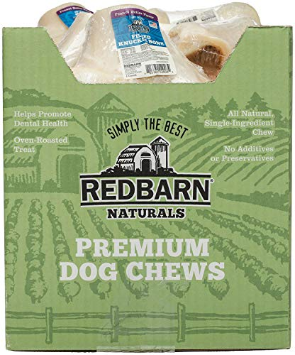 REDBARN Peanut Butter Filled Knuckle Bone for Dogs, 20 Count