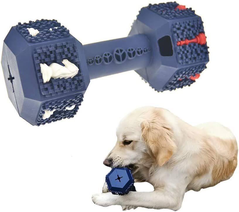 Dog Chew Toys for Aggressive Chewer,Tough Dog Dental Chews Toy, Indestructible Dog Teeth Cleaning Toys for Medium Large Dogs, Food Grade Rubber Interactive Food Dispensing Puzzle Toys