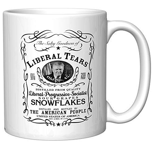 Liberal Tears Coffee Mug With Donald Trump (Old Version) (v2.1)